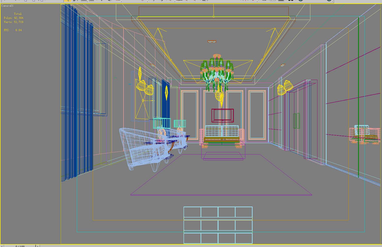 reception space 002 3d model max 145058