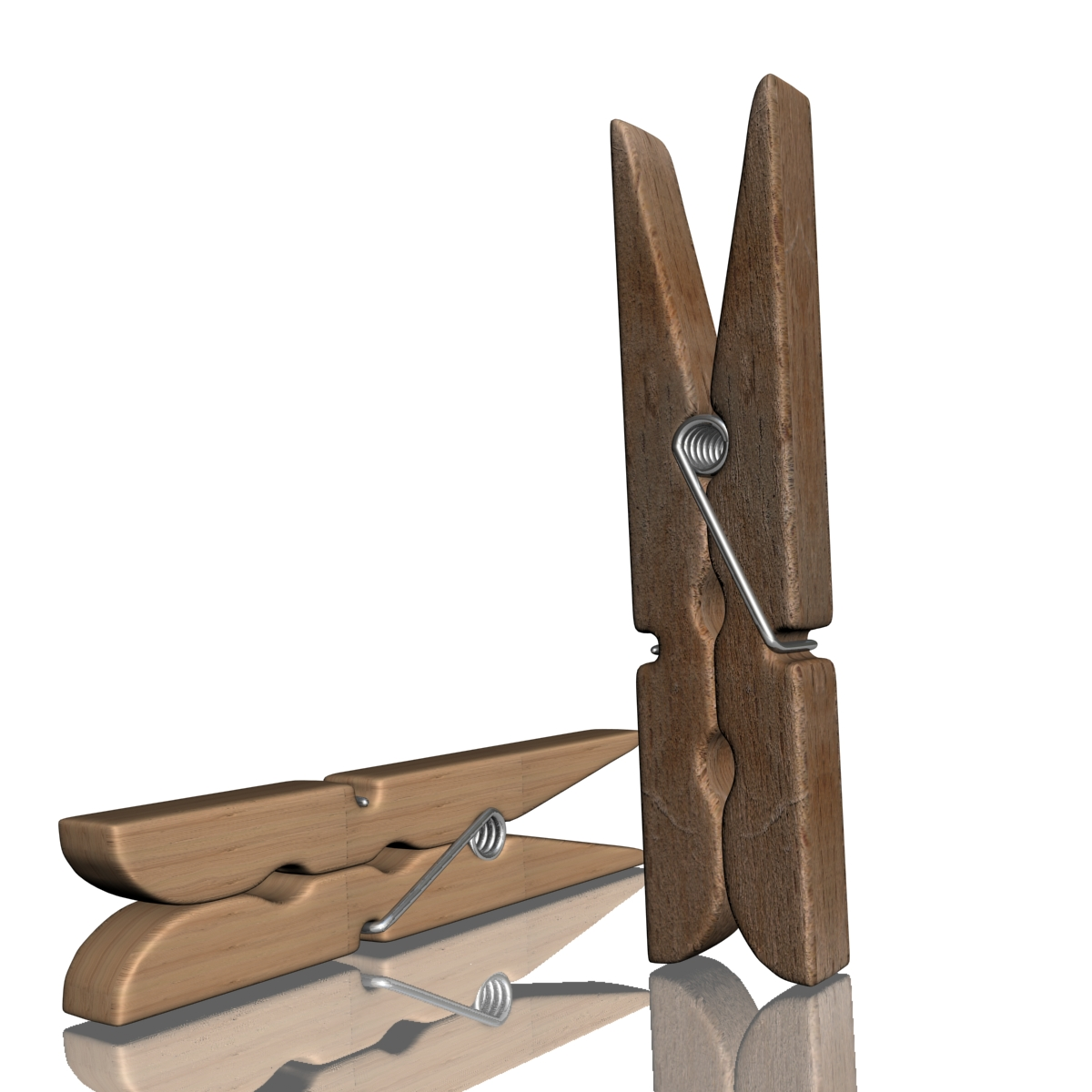 model 02d clothespin-3 3ds max fbx obj 156273