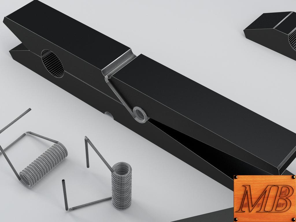 clothespin 3d model 3ds max fbx c4d dae obj 156245