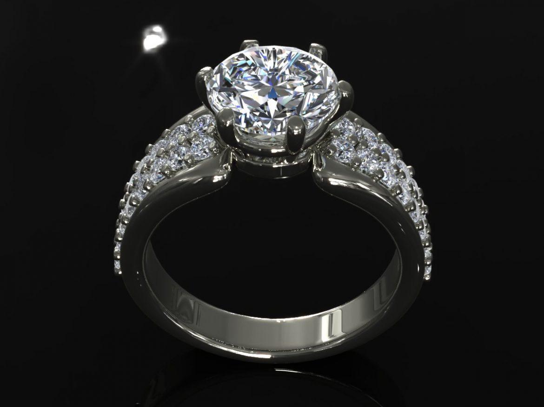 creative diamond mb ring 3d model ma mb 156923