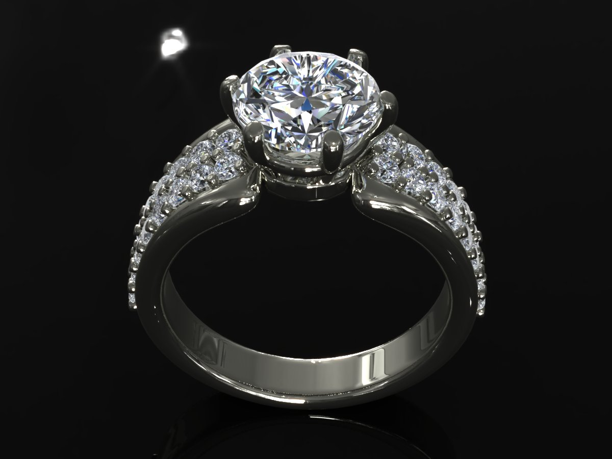 creative diamond mb ring 3d model ma mb 156923
