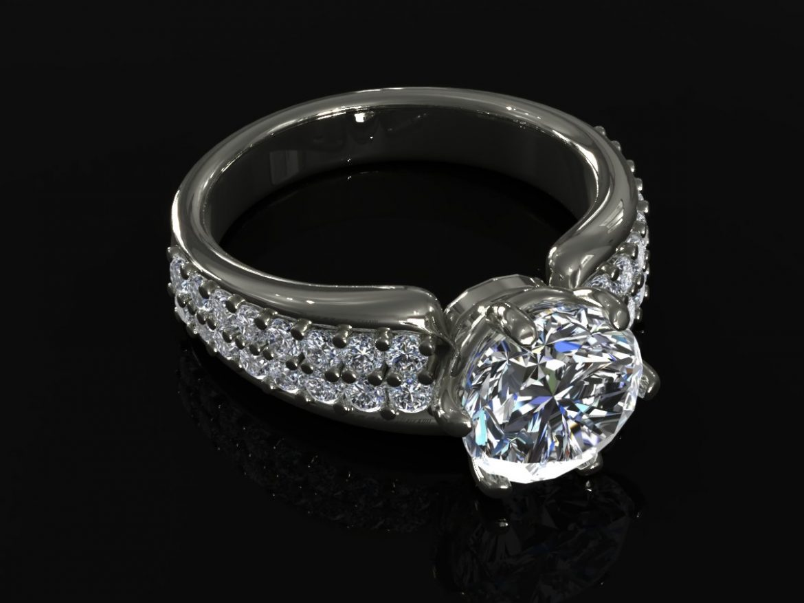 creative diamond mb ring 3d model ma mb 156924