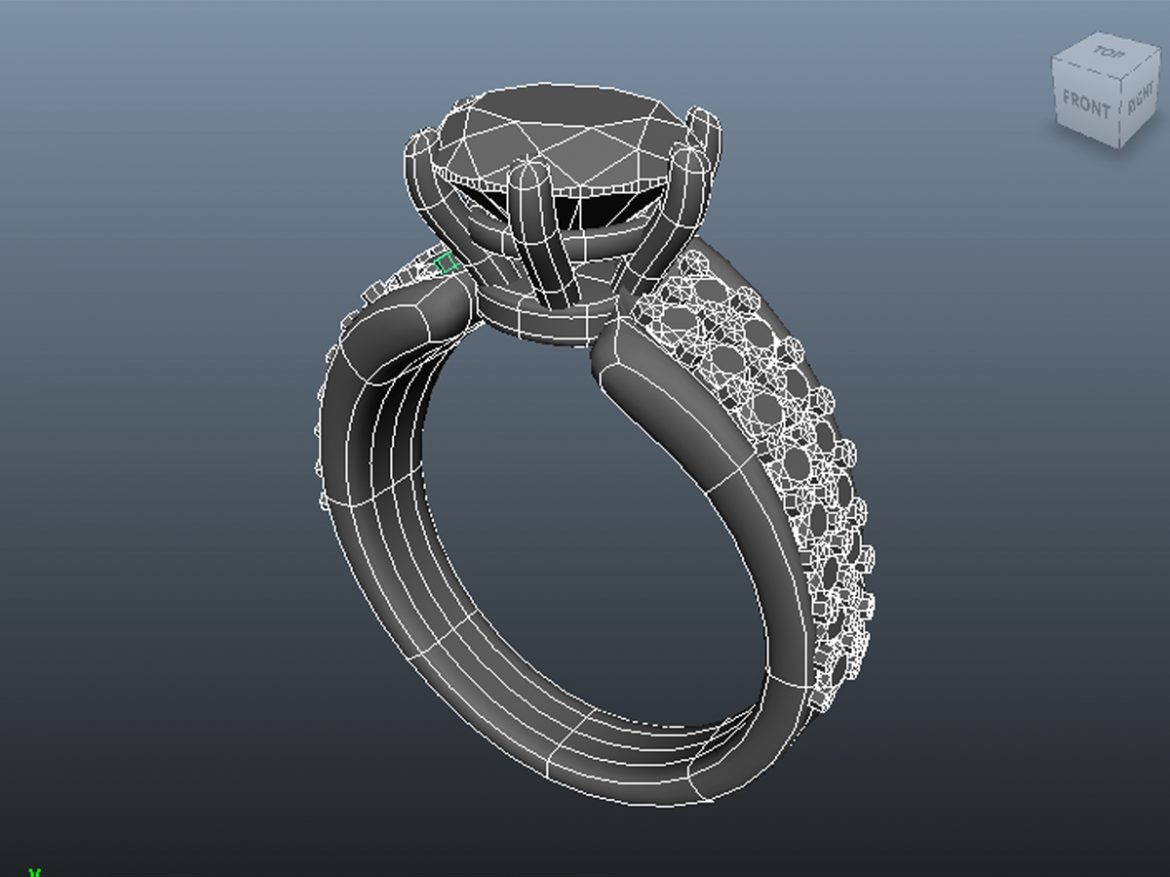 creative diamond mb ring 3d model ma mb 156925