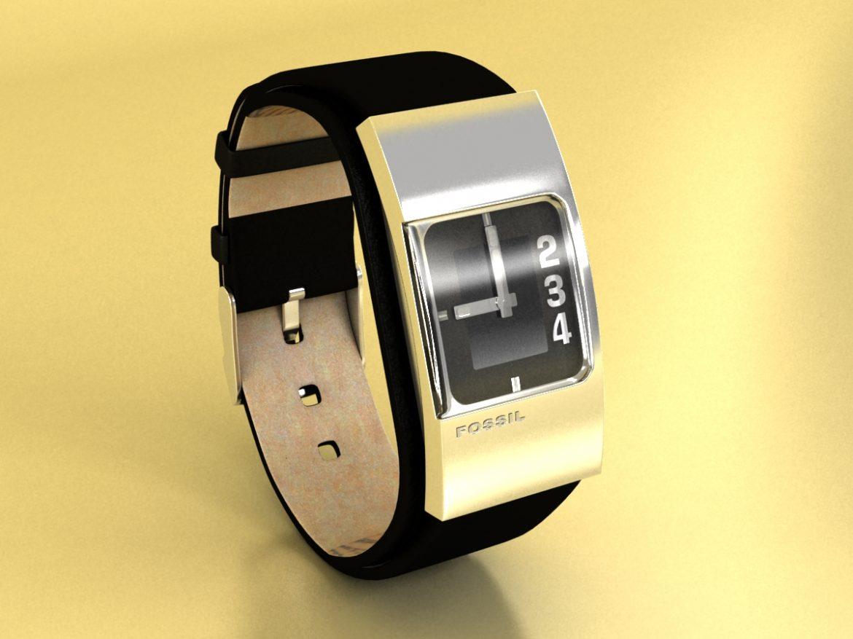 fosilā pulksteņa sieviešu 3d modelis max 155047