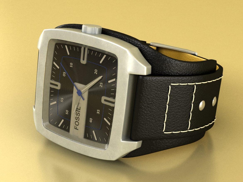 fossil watch male 3d model 3ds 155036