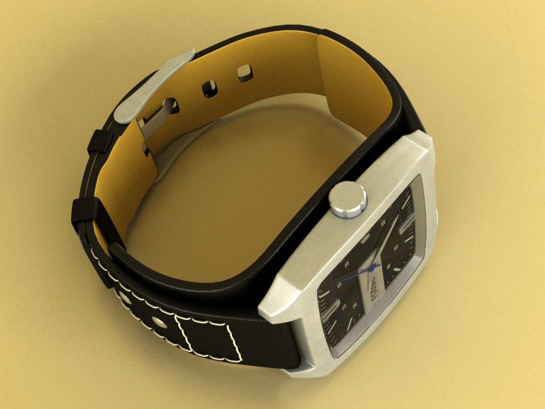 fossil watch male 3d model 3ds 155037