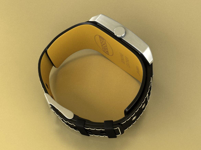 fossil watch male 3d model 3ds 155039