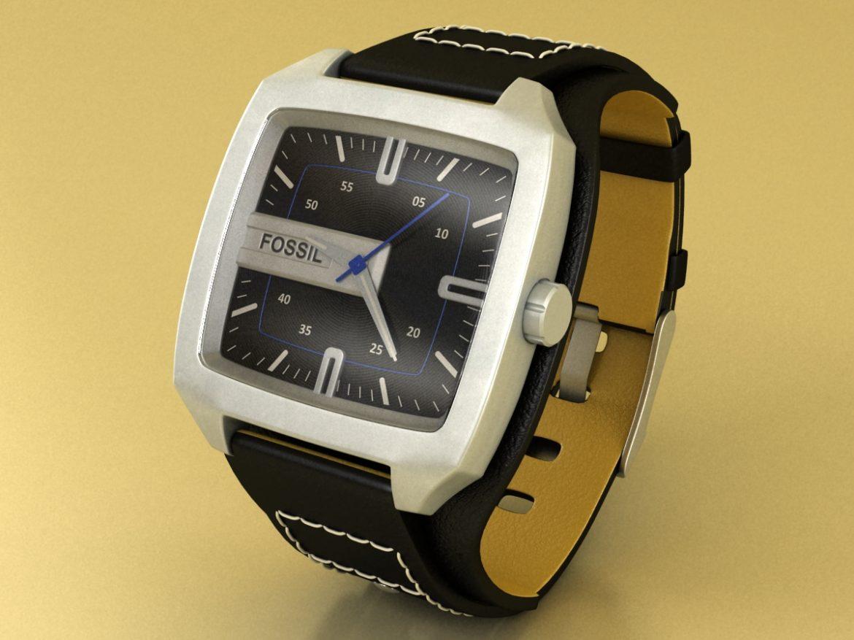 fossil watch male 3d model 3ds 155040