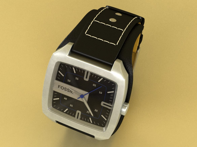 fossil watch male 3d model 3ds 155041