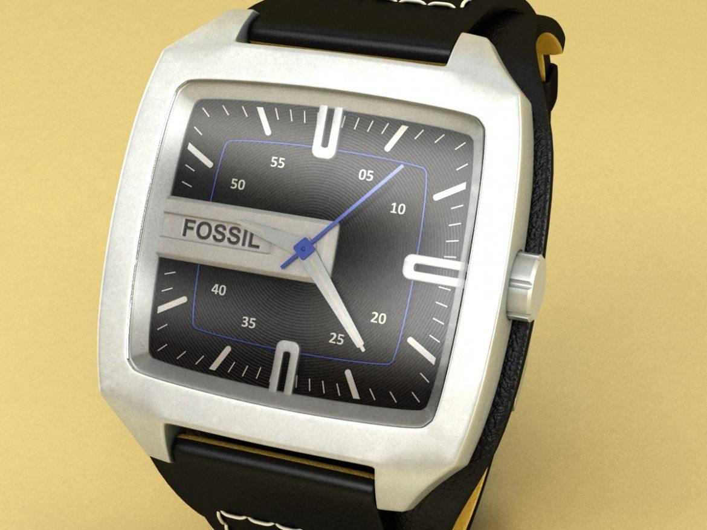 fossil watch male 3d model 3ds 155042