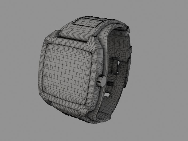 fossil watch male 3d model 3ds 155043