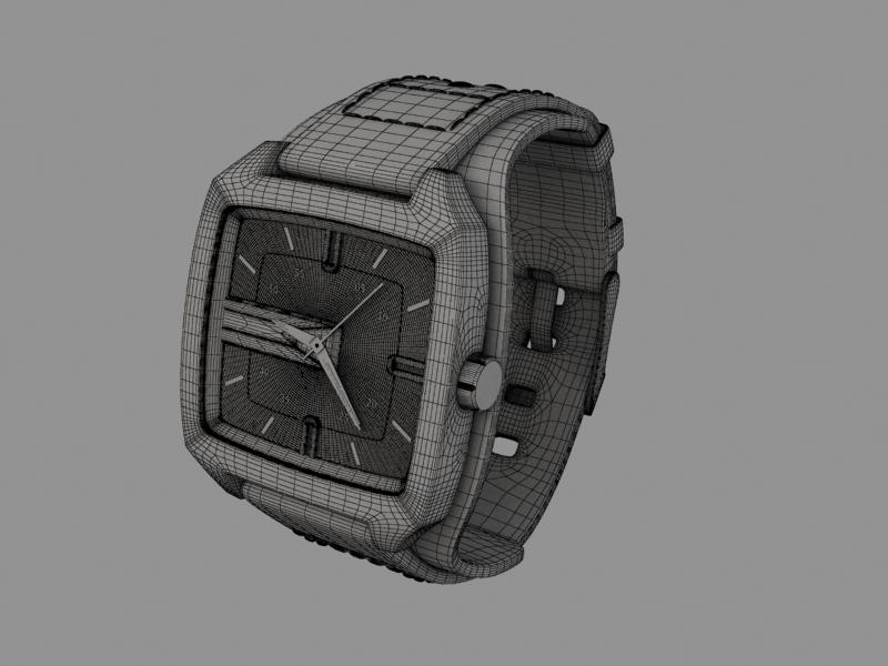 fossil watch male 3d model 3ds 155044