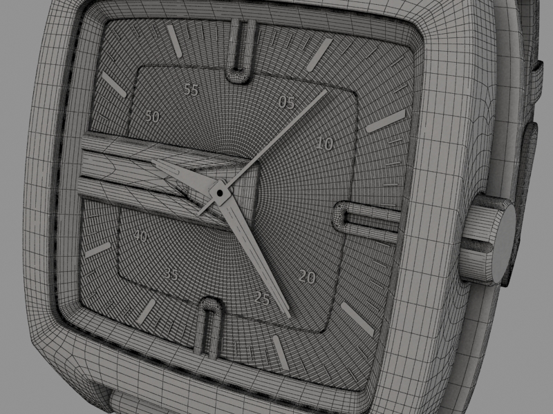 fossil watch male 3d model 3ds 155045