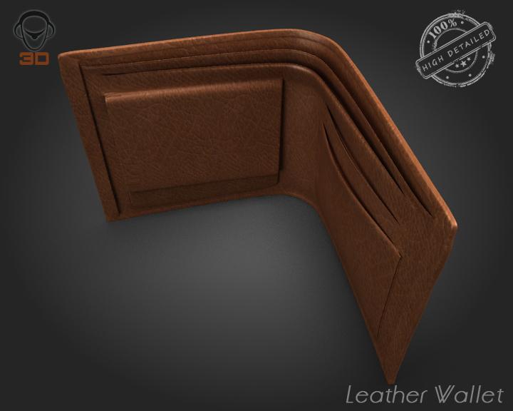 leather wallet 3d model 3ds max fbx obj 137610