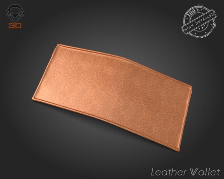 leather wallet 3d model 3ds max fbx obj 137613