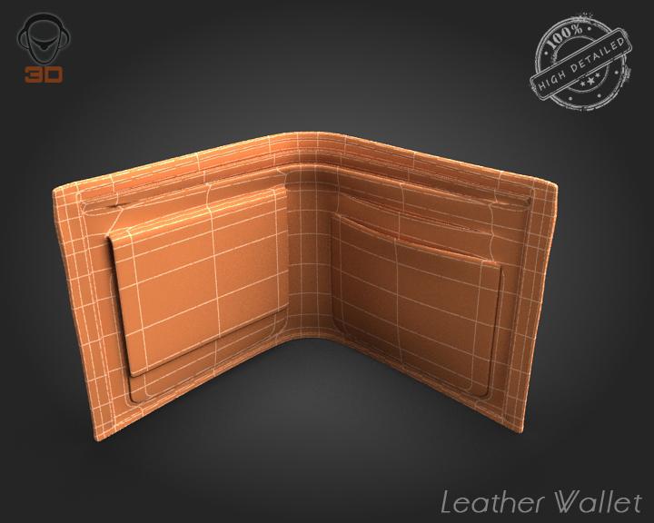 leather wallet 3d model 3ds max fbx obj 137615