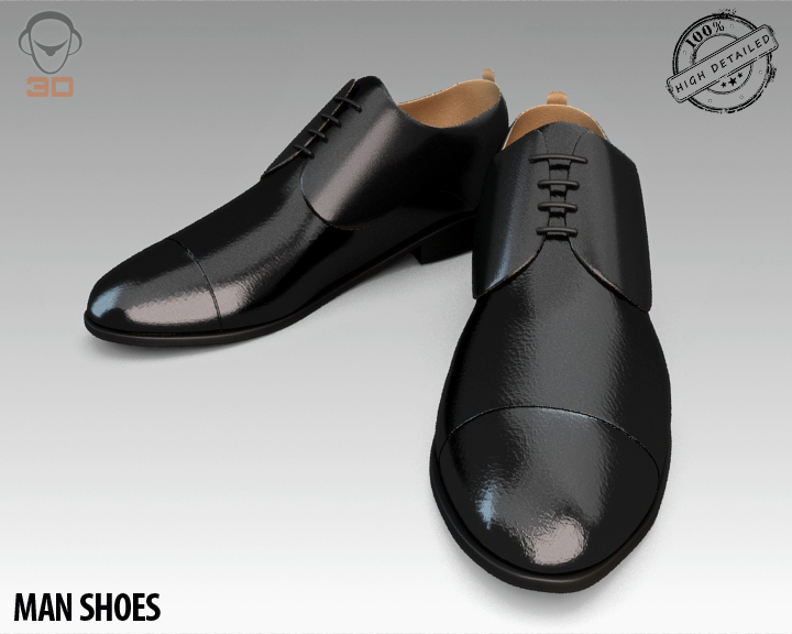man shoe 3d model 3ds max fbx obj 139446