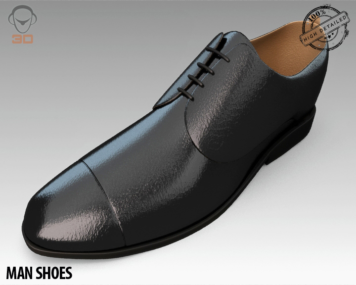 man shoe 3d model 3ds max fbx obj 139449