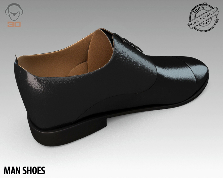 man shoe 3d model 3ds max fbx obj 139450