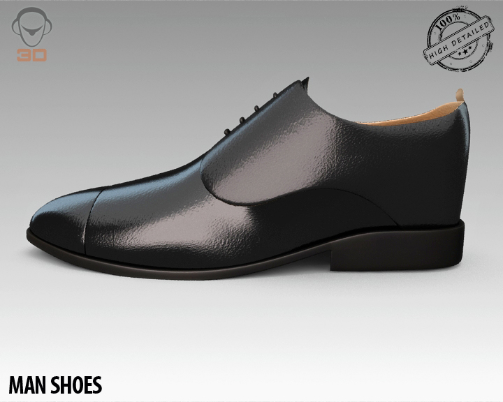 man shoe 3d model 3ds max fbx obj 139451