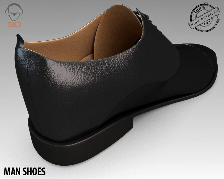 man shoe 3d model 3ds max fbx obj 139453