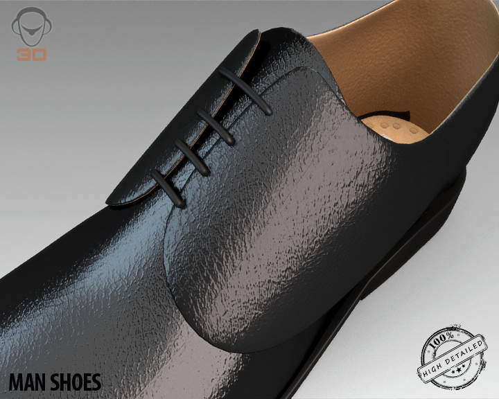 man shoe 3d model 3ds max fbx obj 139454