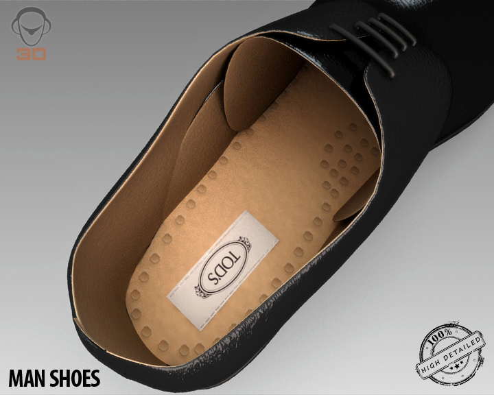man shoe 3d model 3ds max fbx obj 139455