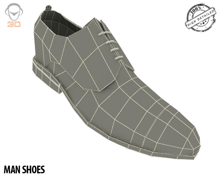 man shoe 3d model 3ds max fbx obj 139459