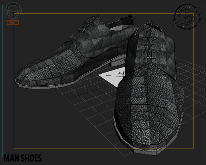 man shoe 3d model 3ds max fbx obj 139460