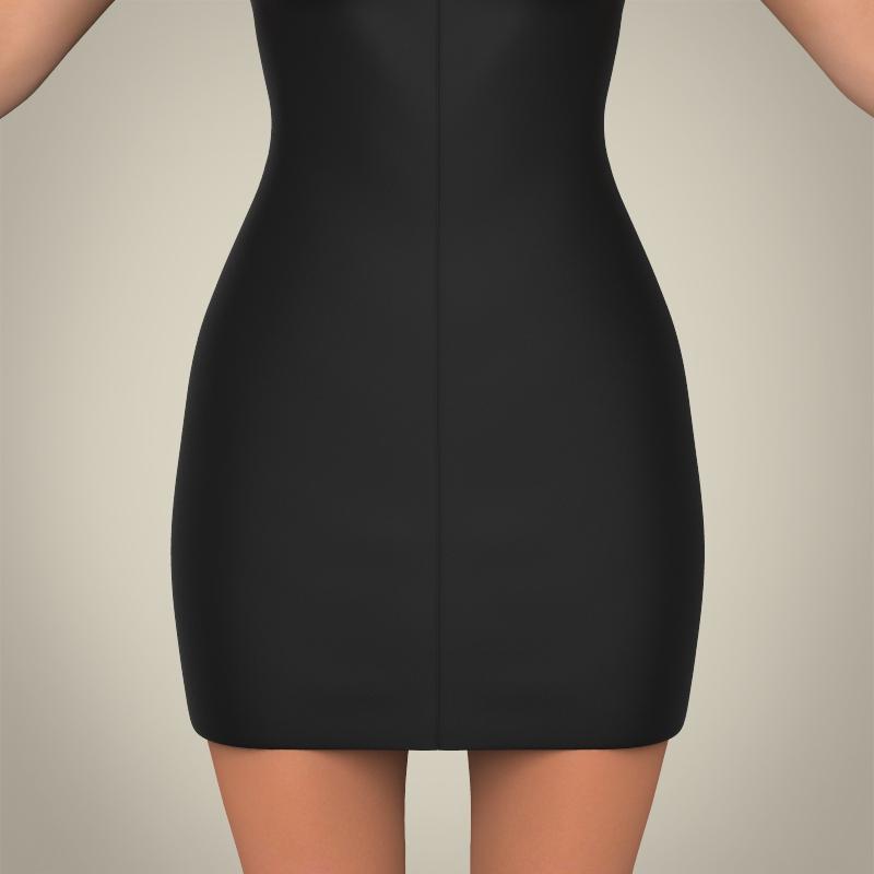 realistic young pretty lady 3d model 3ds max fbx c4d lwo ma mb texture obj 164115