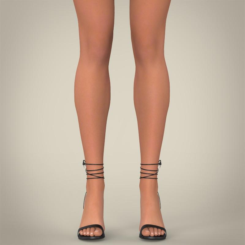 realistic young pretty lady 3d model 3ds max fbx c4d lwo ma mb texture obj 164117