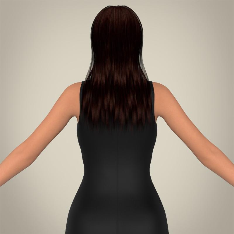 realistic young pretty lady 3d model 3ds max fbx c4d lwo ma mb texture obj 164122