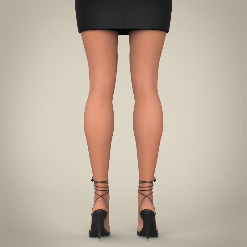 realistic young pretty lady 3d model 3ds max fbx c4d lwo ma mb texture obj 164123