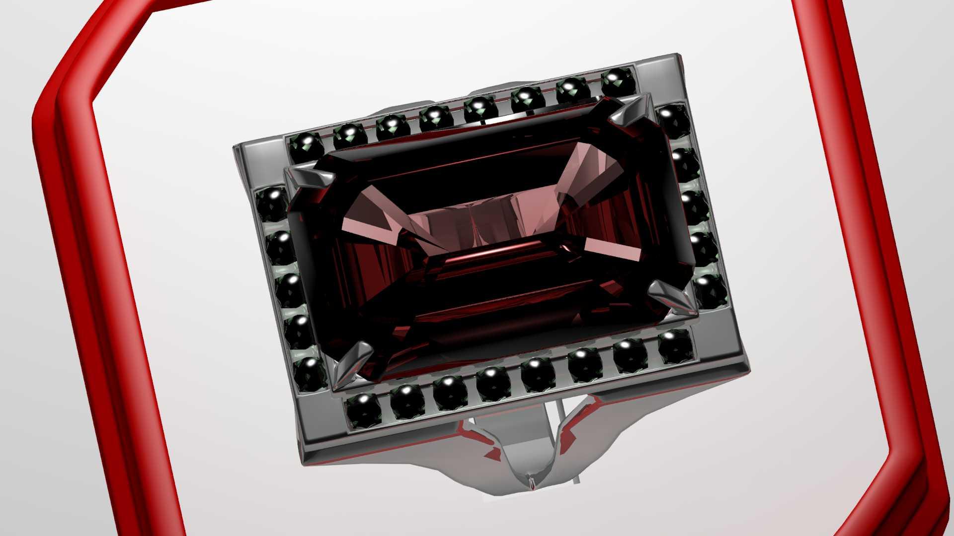 ruby silverwork ring 3d model max obj 120318