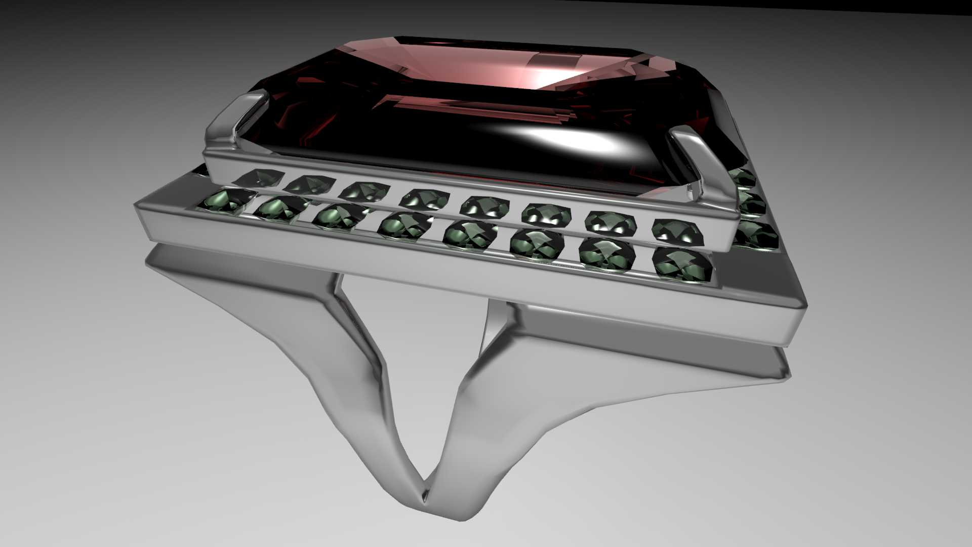 ruby silverwork ring 3d model max obj 120320