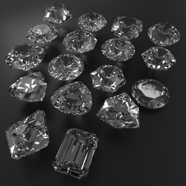 special cut gem collection 3d model fbx blend obj 149691