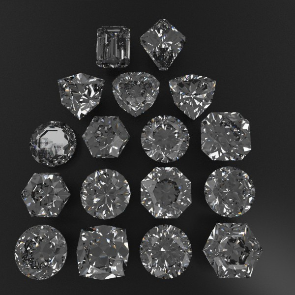 special cut gem collection 3d model fbx blend obj 149693