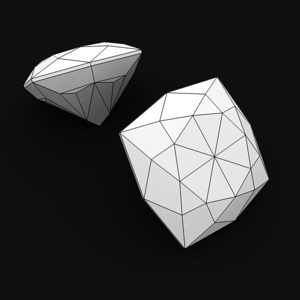special cut gem collection 3d model fbx blend obj 149696