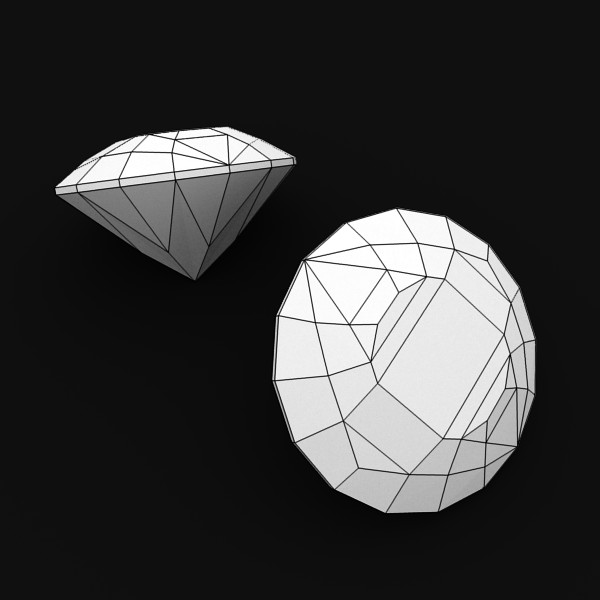 special cut gem collection 3d model fbx blend obj 149698