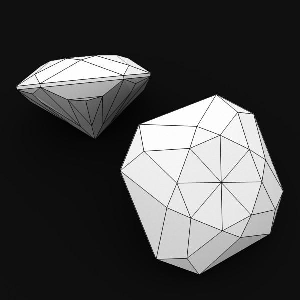 special cut gem collection 3d model fbx blend obj 149702