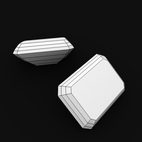 special cut gem collection 3d model fbx blend obj 149704