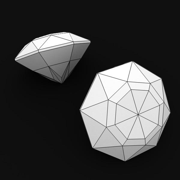 special cut gem collection 3d model fbx blend obj 149706