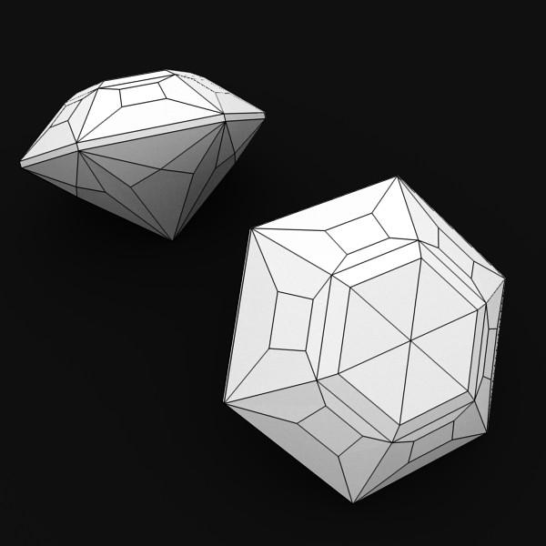 special cut gem collection 3d model fbx blend obj 149708