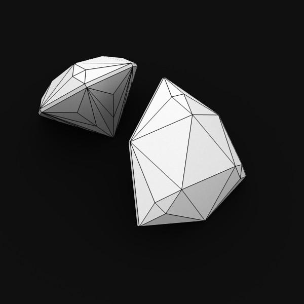 special cut gem collection 3d model fbx blend obj 149710
