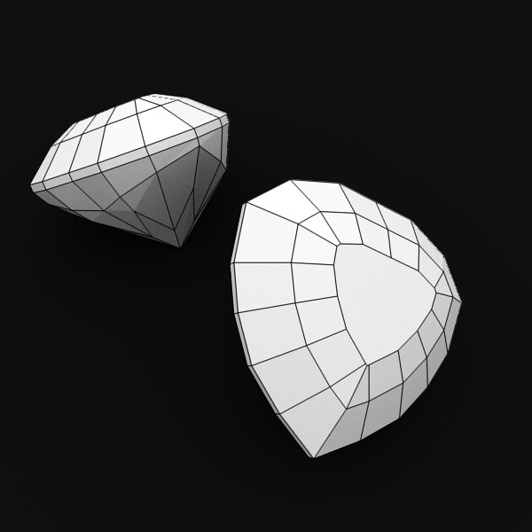 special cut gem collection 3d model fbx blend obj 149714