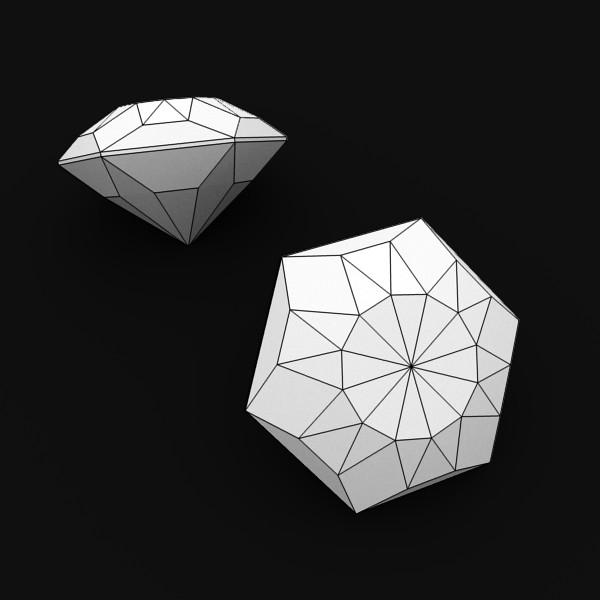 special cut gem collection 3d model fbx blend obj 149716