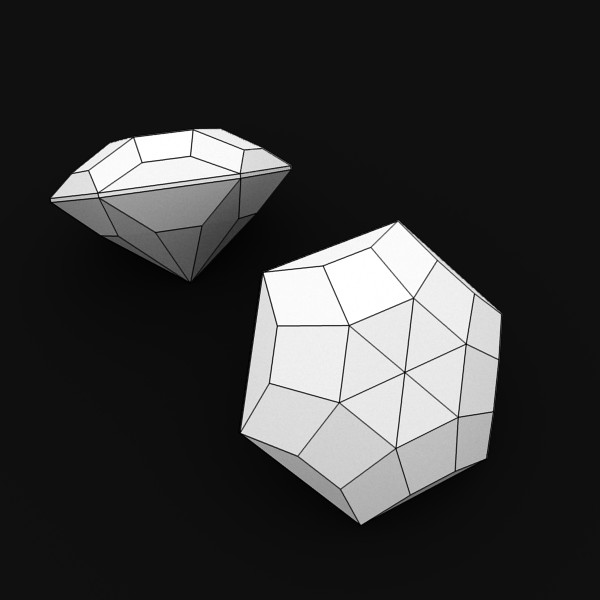 special cut gem collection 3d model fbx blend obj 149718