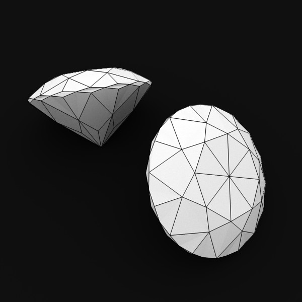 special cut gem collection 3d model fbx blend obj 149728