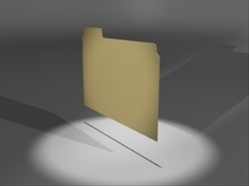 manila folder 3d model 3ds dxf lwo 81113
