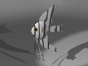 angel fish 3d model 3ds dxf lwo 80671